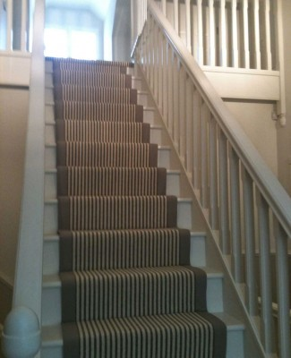 Interior stairway after painting