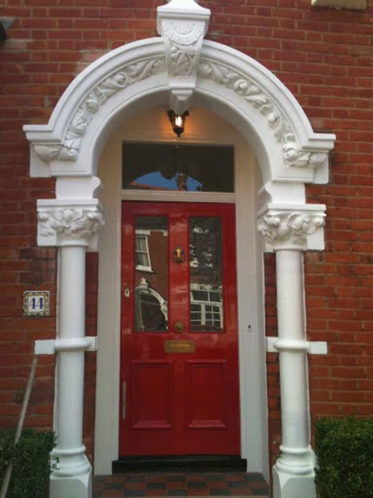 Front door and masonry painting, Dulwich