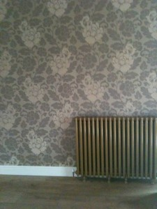 New wallpapering installation