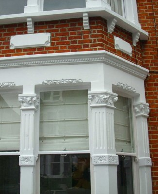 Front bay windows and masonry painting, Wimbledon
