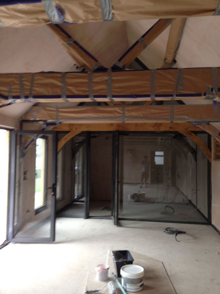 Barn conversion ready for painting
