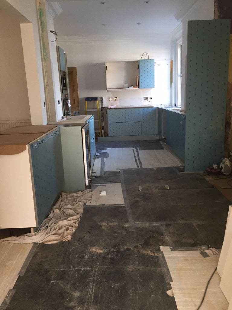 Kitchen refurbishment in progress