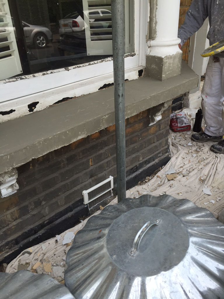 Exterior preparation of window sill