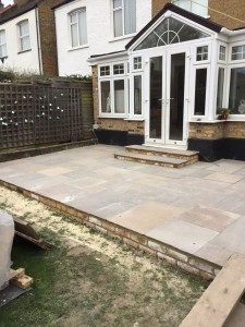 Installation of new patio finished