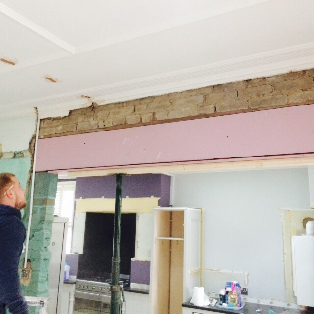Kitchen refurb: wall removed