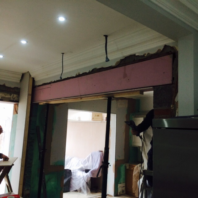 Kitchen refurb lintel