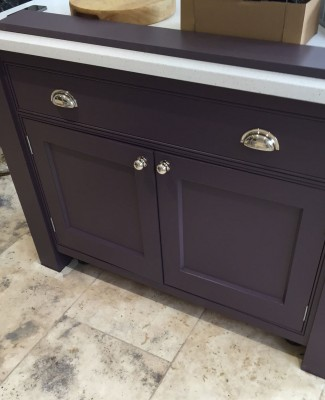 New kitchen island installation and painting