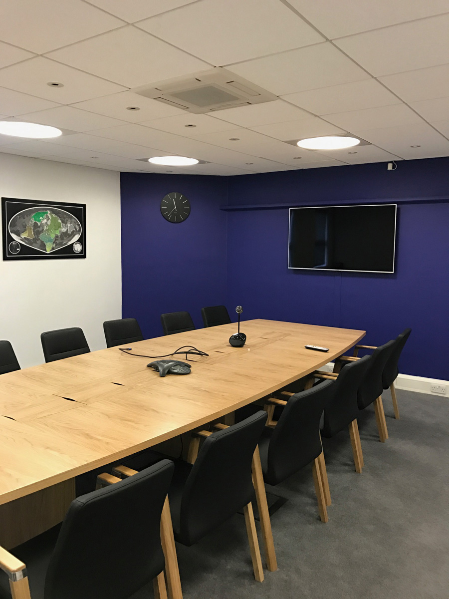 Office boardroom area after painting