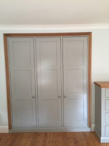 New MDF wardrobes built and painted (after)