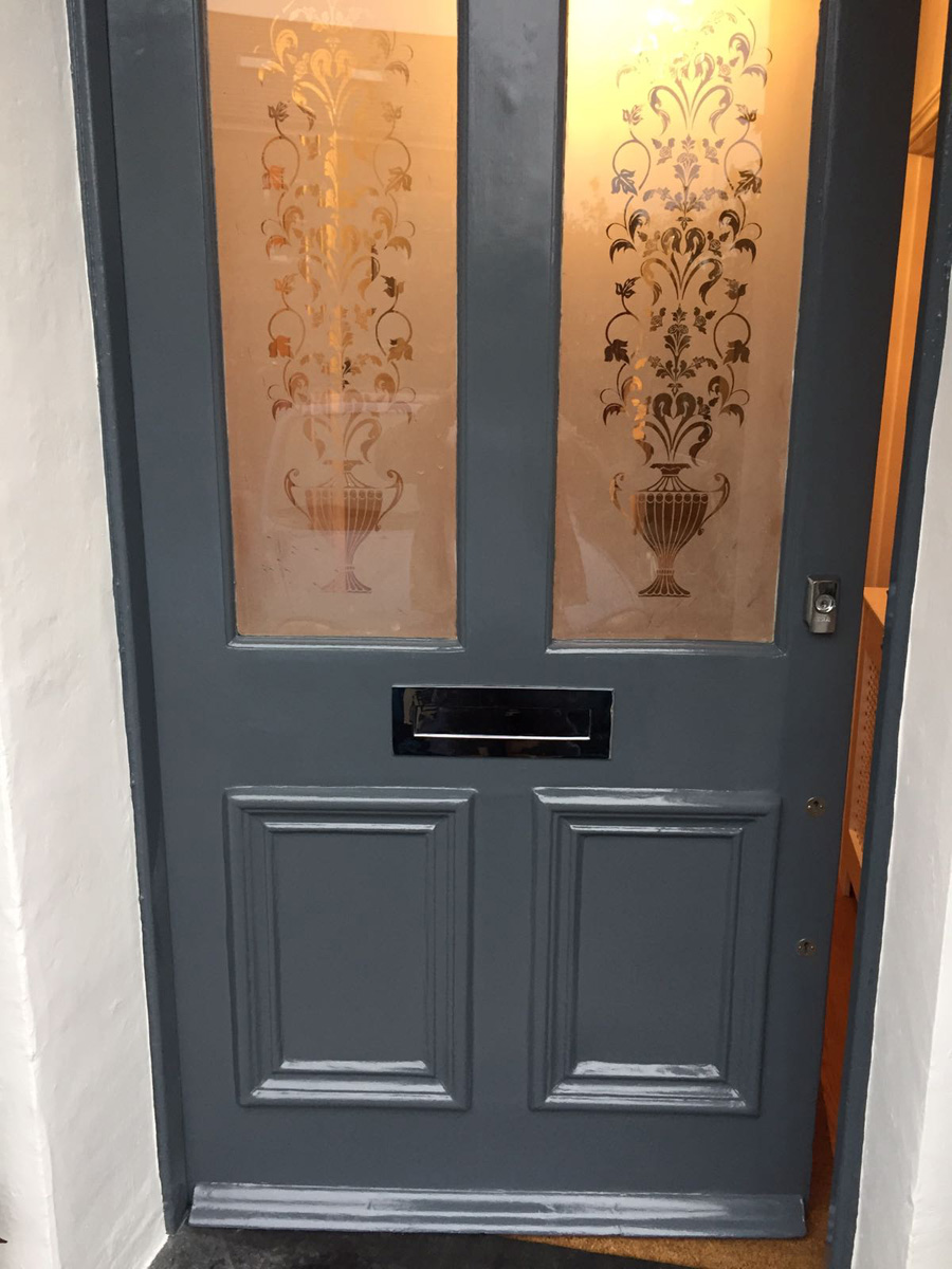 Exterior door after painting