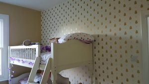 Children's bedroom new wallpaper and painting
