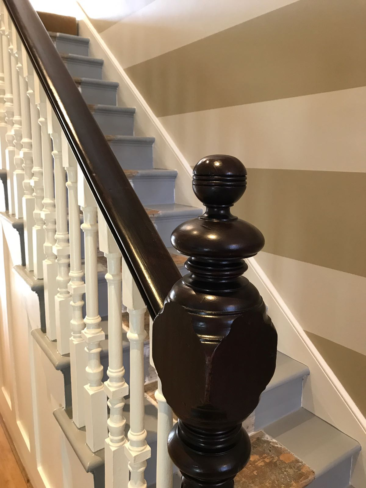 Stairway and banister painting